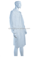 JC1208 Disposable Protective elastic cuffs pp lab coat with 4 velcro