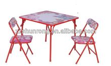 Kids round table and chair with 1table+ 2chairs