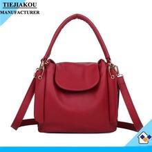 Newest hot custom logo black shoulder bag women's PU leather handbags