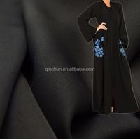 Fursan korean black dubai abaya fabric for abaya