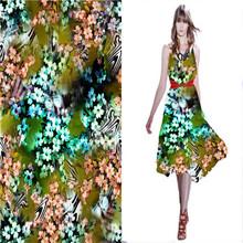 2014 Summer 12mm Drapery Print Silk fabric Silk Chiffon Dress Patterns