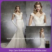 el más nuevo estilo europeo de cuello en v de novia sirena país estilo de vestidos de novia 2014