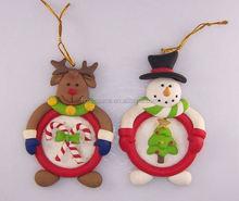 lovely polyresin figurine handmade polymer clay for christmas tree