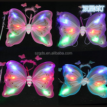 kid party decoration LED fairy butterfly wings Pink beautiful butterfly wings cheap