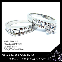 Shengleishi hot sale light weight silver engagement couple rings