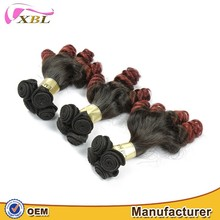 Strong 8A natural bouncy no shedding factory wholesale price Peruvian bouncy curl color 1b/99j human hair