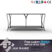 European style tv stand,tv table,made of glass and metal