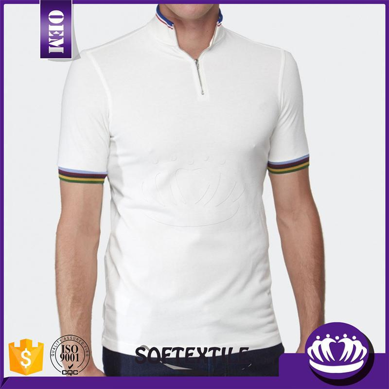 Wholesale blank men 39 s white collar solid color polo t for Cheap polo collar shirts