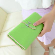 2015 colorful PU purse wholesale Korean women bags women's hand purse cheap ladies purse