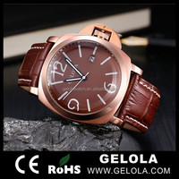 Men's Gold Plating Fashion Design xxcom watch packing with long poly bag