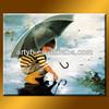 Handmade Rainning Oil Art Of Design Boy For Home Decor