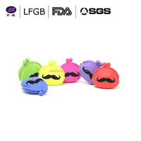 FDA.LFGB Standard Colorful funny silicone purse/High quality silicone coin bag/Waterproof silicone wallet