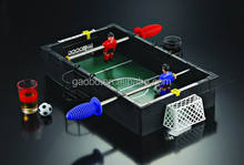"Mini Table Tabletop Soccer / Football Drinking Game 13"" x 8.7"" = 33 x 22 cm with 2 Shot glases"
