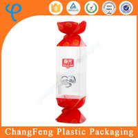 wholesale designed logo plastic clear candy box