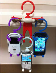 stainless steel insert flexible phone stand / funny silicone cell phone holder for desk