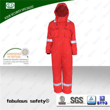 wholesale high quality fireproof work winter coverall for oil and gas industry waterproof winter coveralls