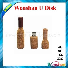 Beer Bottle Shape paper USB 3.0 driver with customized logo pen drive sample available
