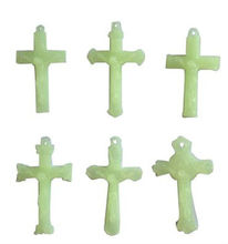 plastic luminous crucifix cross