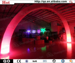 2015 High quality night event inflatable arch with led light