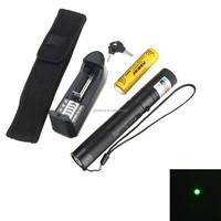 Excellent quality 301 532nm 5mw Green Laser Pointer Laser Pen Burning Match+Safe Key 18650 Battery+Charger+Holster