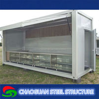 china standard size commercial prefabricated container house for sale/ service shop