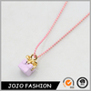 Alibaba express promotional gift shape pendant resin christmas necklace