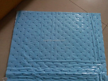 PP nonwoven oil spill dimpled absorbent pads/mats/felts with anti-slip film,15 times absorbency