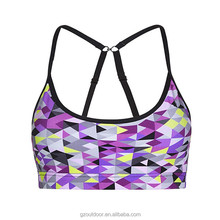 2016 OEM and ODM Yoga bra Bright charming fashion diamond color women's sports vest Removable cup custom processing Camisoles