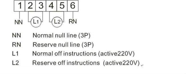 4 p 63a 380 v mcb tipo duplo poder chave de transfer u00eancia