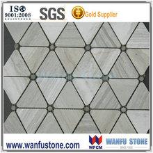 Promotional gery wood vein mosaic tile for decorative floor tile