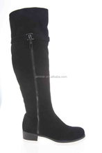 2015 autumn winter wholesale high quality comfortable over knee casual women's leather boots