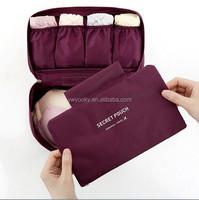 Wholesale 6 colors can choose zipper style foldable clothes bra organizer