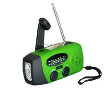 AM/FM Radio Phon charger solar hand crank generator flashlight