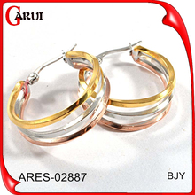 Top Quality circle round shaped earrings for teen girl