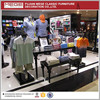 Newly design double side metal clothing store shelf display