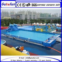 outdoor or indoor competitive price cheap adult plastic pools for portable water park