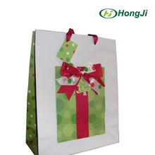 Christmas Gift Cheap Red Paper Bag Wholesale Printing Paper Bag