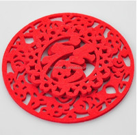 2015 hot sale and cheapest colourful felt cup mat