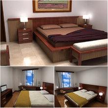 cbe-006 Teak Timber Bedroom Furniture Set