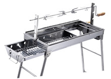 stainless steel Hot sale outdoor picnic portable bbq grill with rotisserie