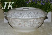 Wholesale cheap white ceramic soup tureen with decal