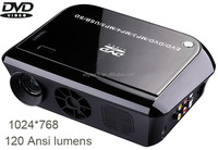 Most competitive price with DVD player MP5,TV,GAME,USB,SD,MMC,VGA,AV all in one home mini multimedia projector