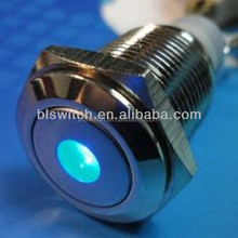 DOT LED metal push button switch with Blue LED color