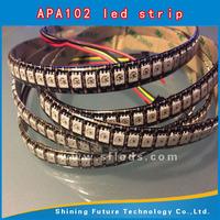 APA102 aluminium led lighting profile of strip, 60LEDs/m with 60pcs WS2801 IC built-in the 5050 SMD RGB LED Chip;DC5V, White PCB