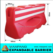 8kgs plastic one hole water filled barrier/traffic barricade