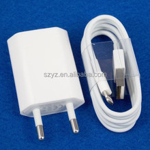 Original USB Data Sync Cable & EU Charger/Adapter/plug for iPhone 5S 5C 6 plus