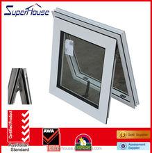 top quality aluminium top hung ventilation glass window