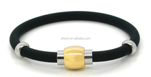 negative ion and far infrared health care energy silicone bracelet with magnetic clasp