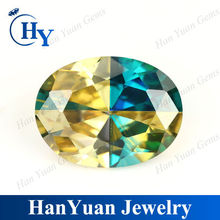Charming Oval Shape Cubic Zirconia Spell Color stone