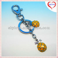 fashion vners pineapple custom metal keychains